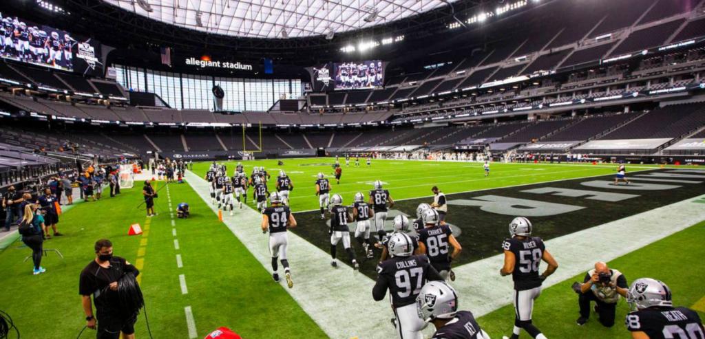 Los Raiders en las Vegas.