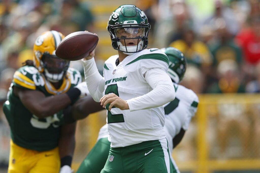 Los Jets pisan fuerte en Lambeau con un buen papel de Zach Wilson. Foto: Jeff Hanisch - USA TODAY Sports.